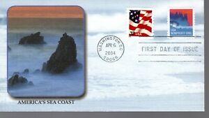 SEA COAST - 3785  U/A FDC  - FLEETWOOD  - 2004