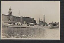 HMS ALBURY Minesweeper  vintage  photograph RP postcard   ze203