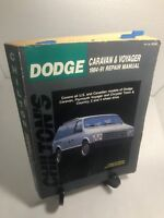 1984-1991 Dodge Plymouth Chiltons Caravan Voyager Town & Country 2WD 4WD USA/CA