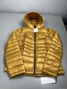 Women's NWT Calvin Klein Gold Puffer Jacket Size M