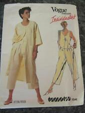 VTG VOGUE SZ 8 UNCUT SEWING PATTERN TAMOTSU INDIVIDUALIST PANTS TOP COATDRESS