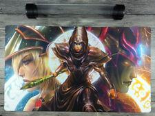 Dark Magician YuGiOh Artwork Custom Playmat TCG CCG Mat Free High Quality Tube
