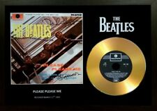 THE BEATLES 'PLEASE PLEASE ME' SIGNED GOLD CD DISC COLLECTABLE MEMORABILIA