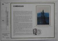 Feuillet CEF 729 Soie 1er jour 1984 Le Phare de Cordouan