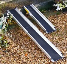 7ft Folding Telescopic Wheelchair Scooter Channel Ramps Light Easy Strong Yes