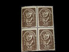 Vintage Stamp,AUSTRIA, DEUTSCH ÖSTERREICH,1919 BLOCK OF 4,MNH, #AT 211,Mythology