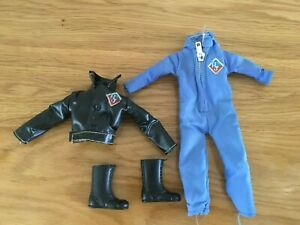 Vintage MEGO Action JACKSON Blue Jumpsuit & Leather Jacket