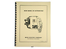 Wico Service & Parts Manual for XB Distributor Magneto John Deere, Oliver *447