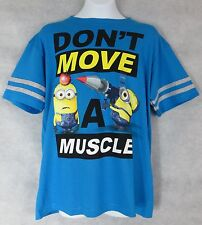 Despicable Me Minions Boys T-shirt New Dont Move a Muscle L 10 12 Free Shipping