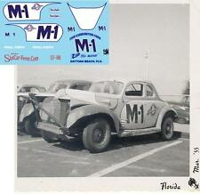 CD_1686 #M-1 Fireball Roberts   Fish Carburetor '39 Ford 1:64 scale decals