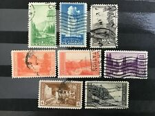 1934 United States National Parks eight stamps  Used VG Lot 8467