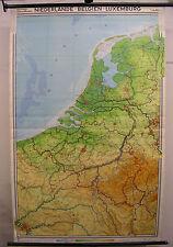 Schulwandkarte Wandkarte Belgien Niederlande Luxemburg Paris 133x208cm Amsterdam