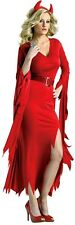 New Womens Sexy Devil Hell Fire Red Halloween Costume Fancy Party Dress ladcos21