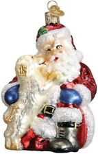 Old World Christmas 40293 Glass Blown Santa's Puppy Love Ornament