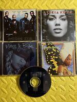 LOT Of 5 CDS ALICIA KEYS MARY J BLIGE 112 ERYKAH BADU R&B FREE SHIPPING CLEAN cd