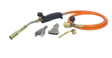 Propane Torch Three Burners Tips Solder Thaw Sweat Pipes Heat Surfaces Copper