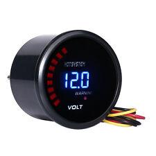 """Car Truck 2""""52mm Digital LED Volt Voltage 8-18v Gauge Meter Black Universal"""