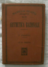 MANUALE HOEPLI ARITMETICA RAZIONALE - ANNO 1912 - Panizza