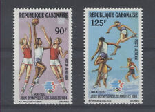 JO LOS ANGELES Gabon 2 val de 1984 BASKET COURSE ** NEUF PORT OFFERT - OLYMPICS