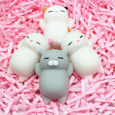 4X Mochi Soft Cat Squishy Squeeze Healing Fun Kid Toy Gift Relieve Anxiety Decor