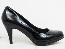 BUFFALO London ❤ Damen Pumps Gr. 37 Schwarz Lackleder High Heels Shoe