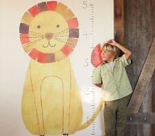 "Pottery Barn Kids Lion Zoo Animal Growth Chart Wall Decal Mural Height 30"" x 60"""