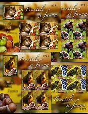 2014 Squirrel/hazelnuts,Grapes ,Starling,Bear,berries,Wil d boar,Romania,6861B,Mnh