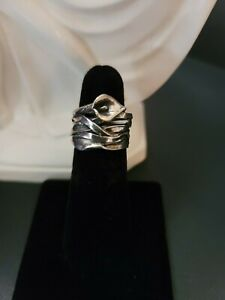 Or Paz Pz Israel Sterling Silver Calla Lily Ring