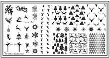 MoYou Nail Fashion Stamping Nail Art Image Plate Festive 1 Christmas Collection
