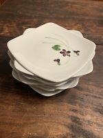 "Orchard Ware California Pottery Wood Violet 6""  Bread Dessert Salad Plate"