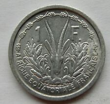 """1948 French Equatorial Africa 1 Franc Coin KM#6 """"Only Year of Mintage"""" SB6171"""