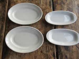 4 Number White Oval Small Tapas Dishes GC