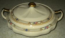 ANTIQUE RARE S & S WINTHROP QUALITY IVORY PORCELAIN.  22 CARAT TRIMMED TUREEN