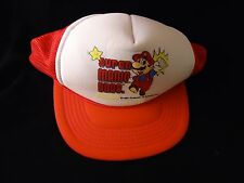 Super Mario Bros. Nintendo NES Promotional Red Truckers Mesh Hat Promo Cap 1989