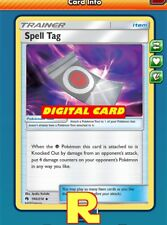 2x Spell Tag - for Pokemon TCG Online (ptcgo in Game Card)