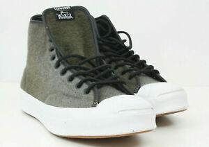 Converse Men Shoes Jack Purcell Woolrich Signature Hi Top 153880C Gray Sz 12 NEW