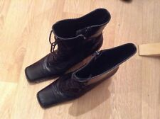 Ladies Leather Ankle Boots UK size 5 black