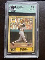 🔥1987 Topps Barry Bonds Pittsburgh Pirates #320 Error Card Gem 10 Case Regrade?