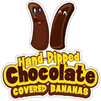 Chocolate Covered Bananas Decal Concession Stand Food Truck Sticker