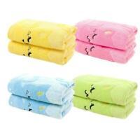 Cute Small Cat Cartoon Soft Baby Newborn Bath Towel Wipe Washcloth Feeding H6U4