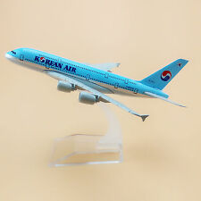 16cm Airplane Model Plane Korean Air Airlines Airbus 380 A380 Aircraft Model