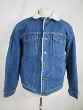 VTG Wrangler Men's Fleece Lined Denim Jean Jacket 09905