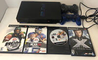 Sony Playstation 2 PS2 Fat Console SCPH-50001 w/2 Controllers AND 4 games
