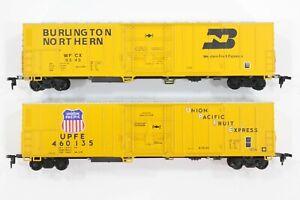 HO Athearn Burlington Northern & Union Pacific 57ft Mechanical Refrigerator Cars