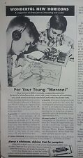 1955 Wrigleys Double Mint Chewing Gum For Your Young Marconi RCA Electronics Ad