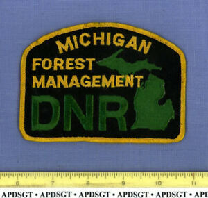 MICHIGAN DNR FOREST MANAGEMENT State Park Range Police Patch NATURAL RESOURCES