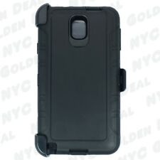 Black for Samsung Galaxy Note 3 Defender Case w/ Clip Fits Otterbox