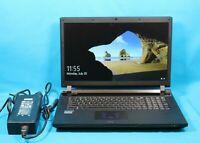 "CLEVO P177SM 17.3"" RGB DVD Laptop i7-4700MQ 2.40GHz 8GB RAM 500GB HDD Win10"