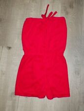 Vintage 1970's Red Terry Cloth Romper Never Worn Sz L