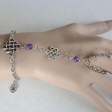 bijou celtique médiéval Bracelet Bague entrelacs celtiques perles améthyste